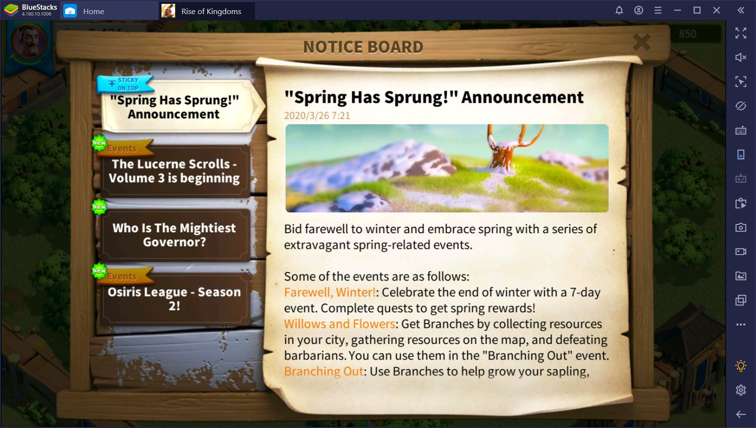 Rise of Kingdoms 2020 Spring Event: All You Need to Know