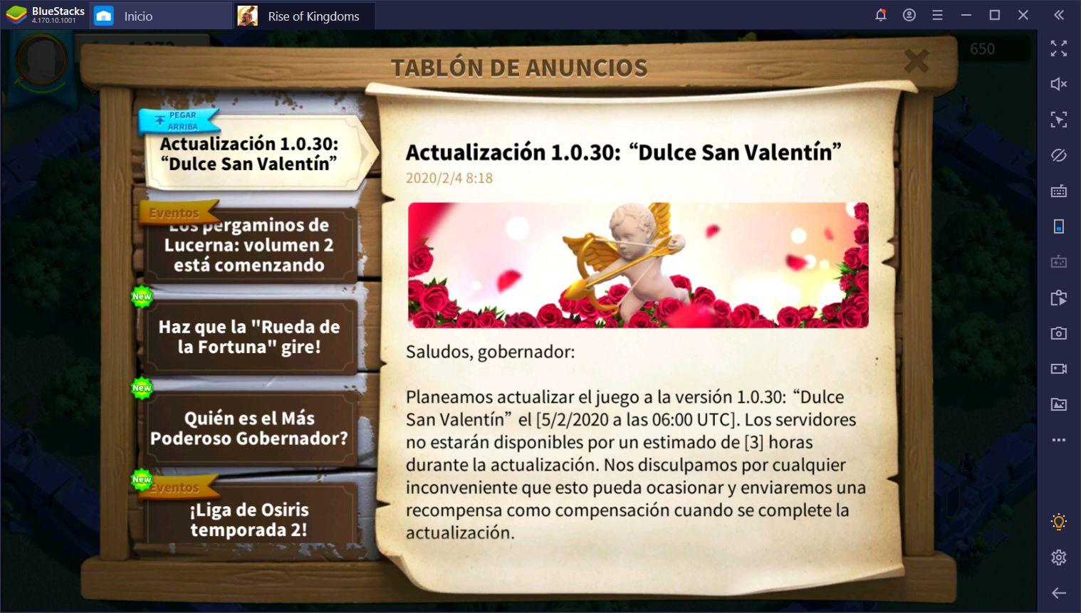 Actualización Dulce San Valentín de Rise of Kingdoms - Todo lo que Debes Saber Acerca del Nuevo Parche