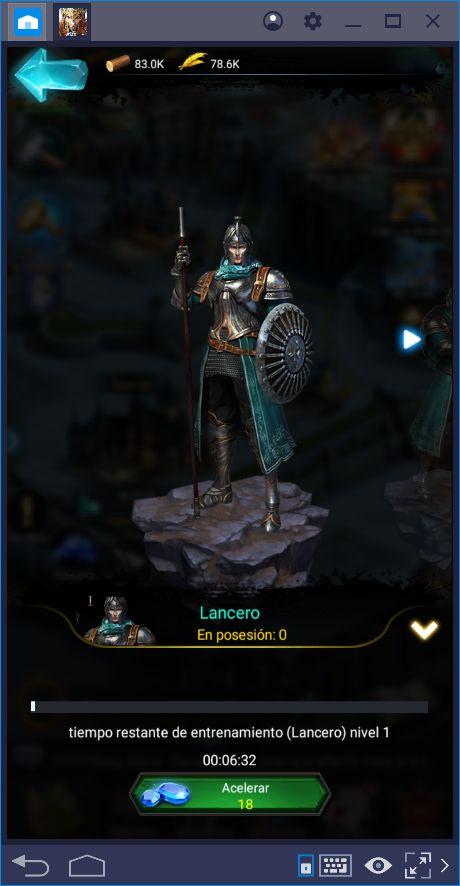 Cómo Crecer tu Ejército en Rise of Kings