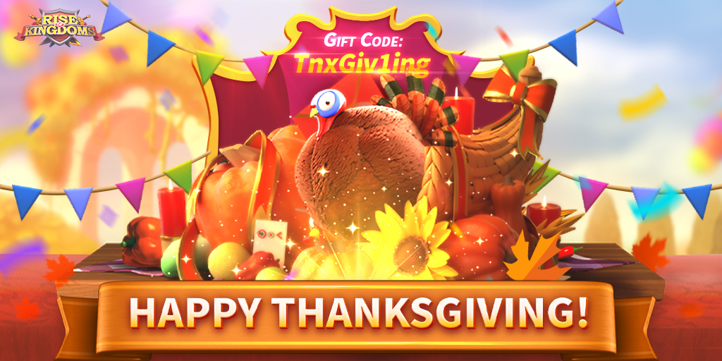 Rise of Kingdoms – Grab Your Thanksgiving Rewards Now