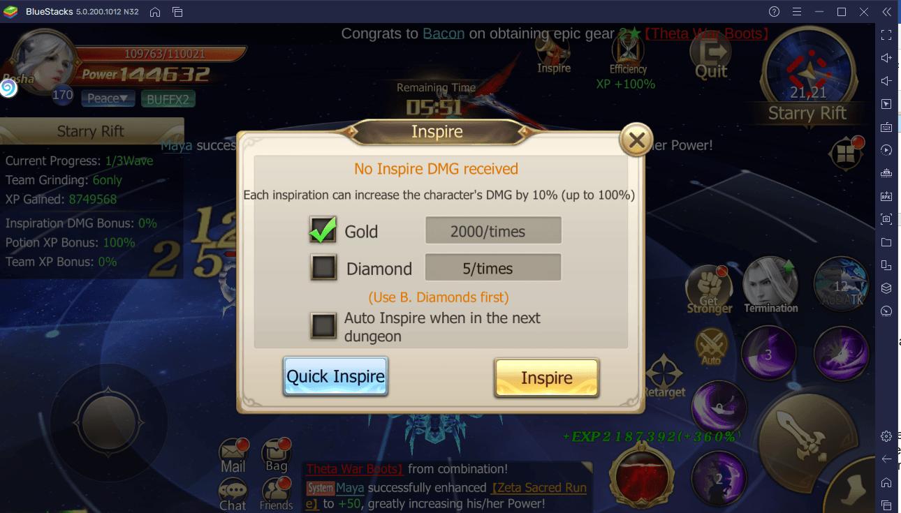 EXP- und Gold-Farming in Rebirth of Chaos: Eternal Saga