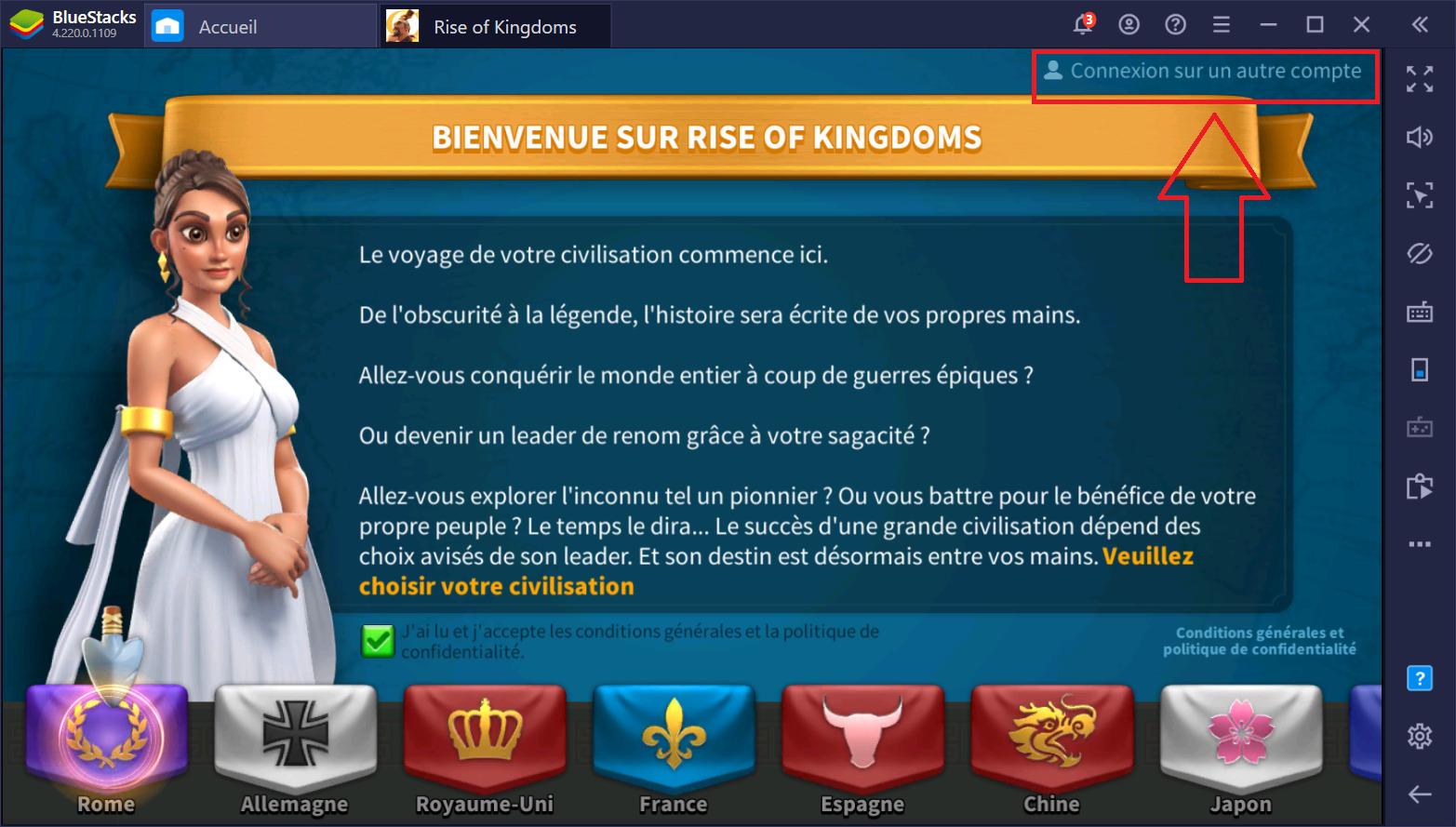 Rise of Kingdoms – Problèmes de connexion en cas d'utilisation de plusieurs appareils