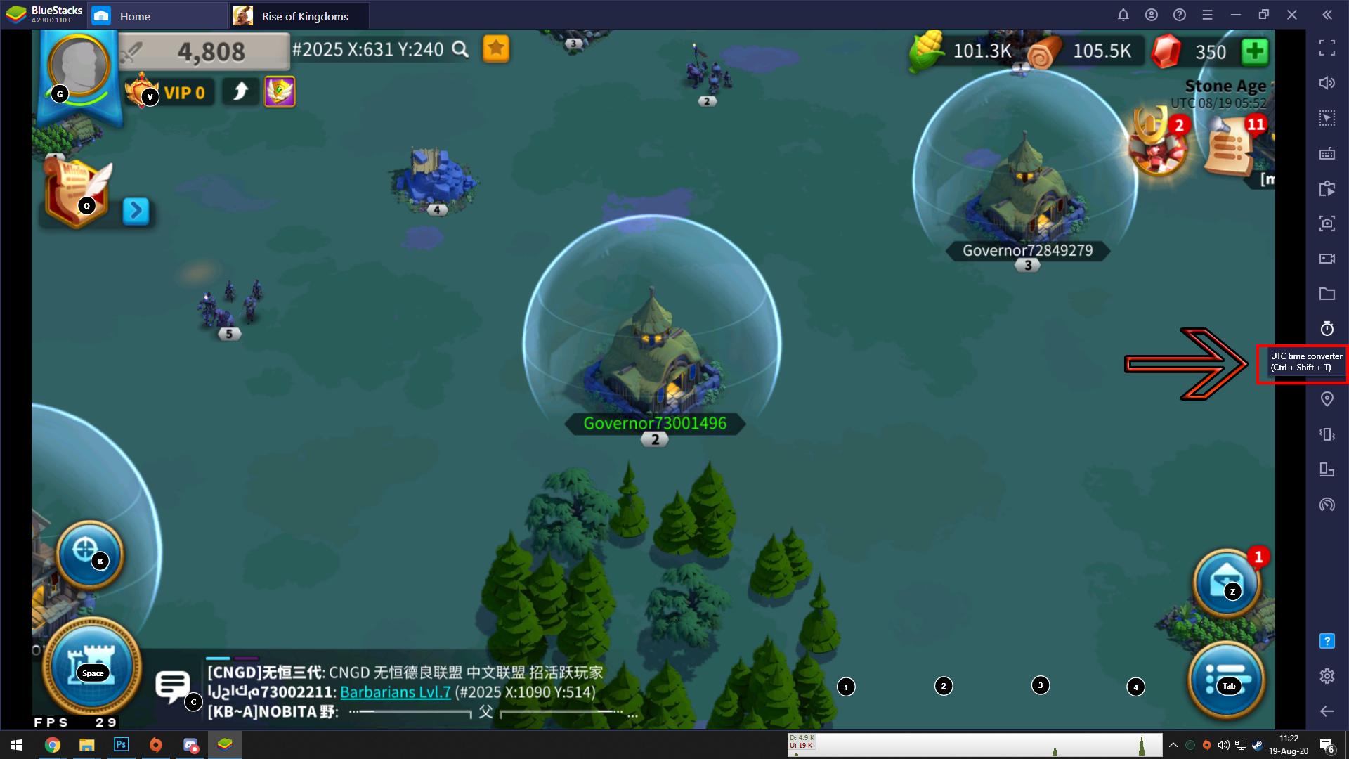 BlueStacks的新增功能「協調世界時轉換器(UTC Converter)」: 手動將遊戲內的活動之協調世界時轉換成當地的時區