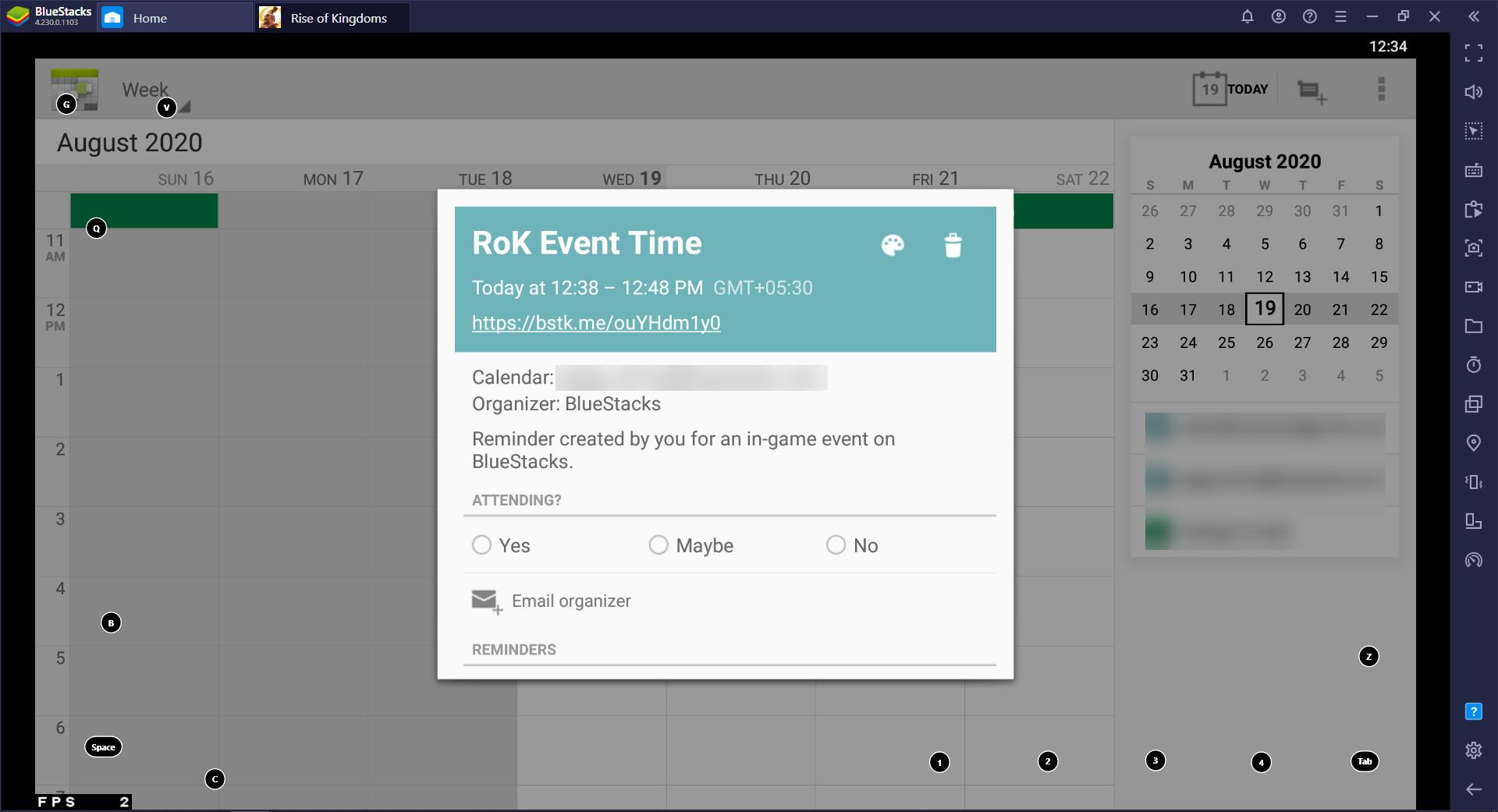 Tính năng BlueStacks UTC Converter: Dễ dàng chuyển đổi thời gian tự động nhắc lịch sự kiện game