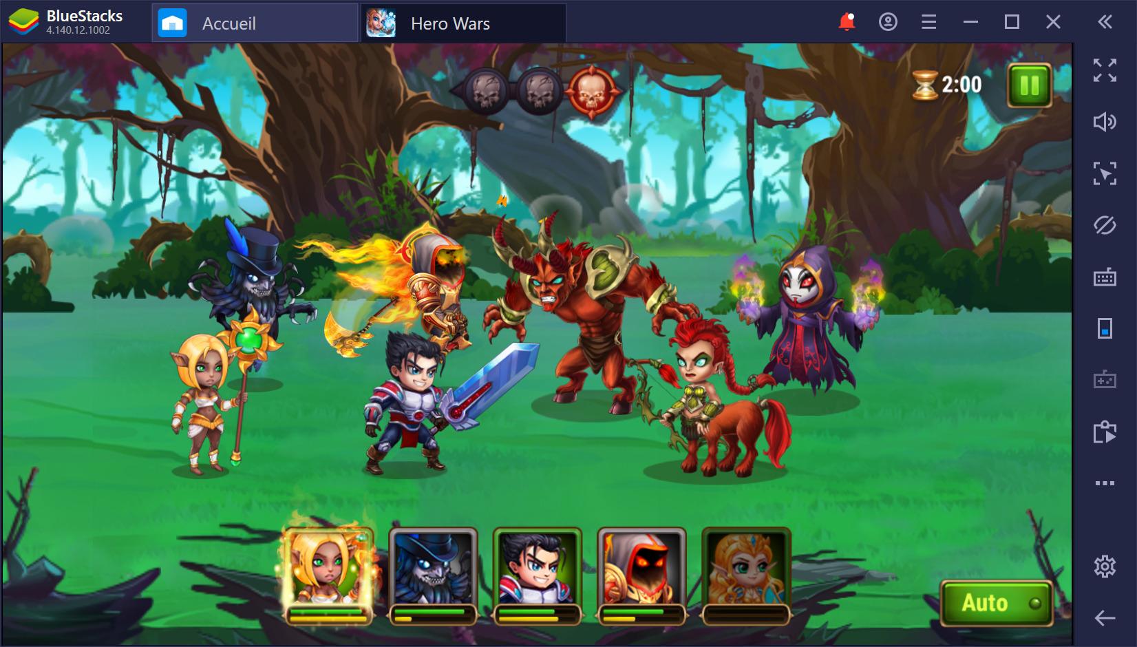 Sélectionnez les meilleurs héros et utilisez tout leur potentiel dans Hero Wars sur PC
