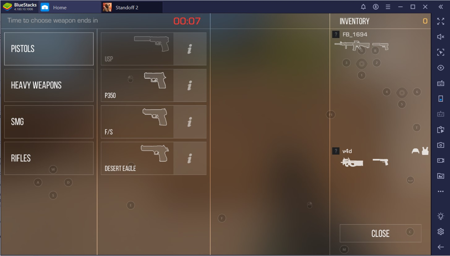 Play Standoff 2 on PC with BlueStacks Smart Controls