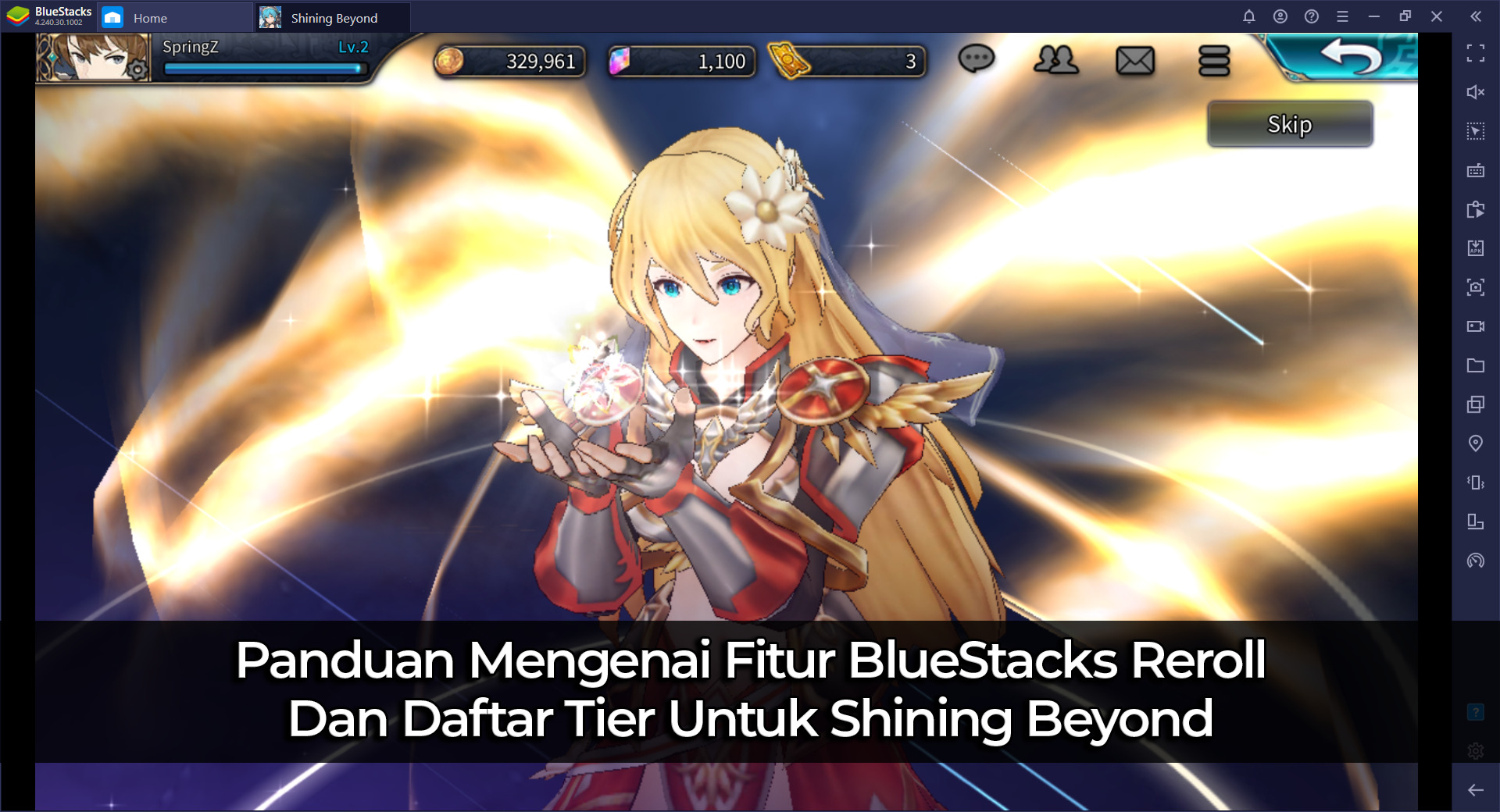 Panduan Mengenai Fitur BlueStacks Reroll Dan Daftar Tier Untuk Shining Beyond