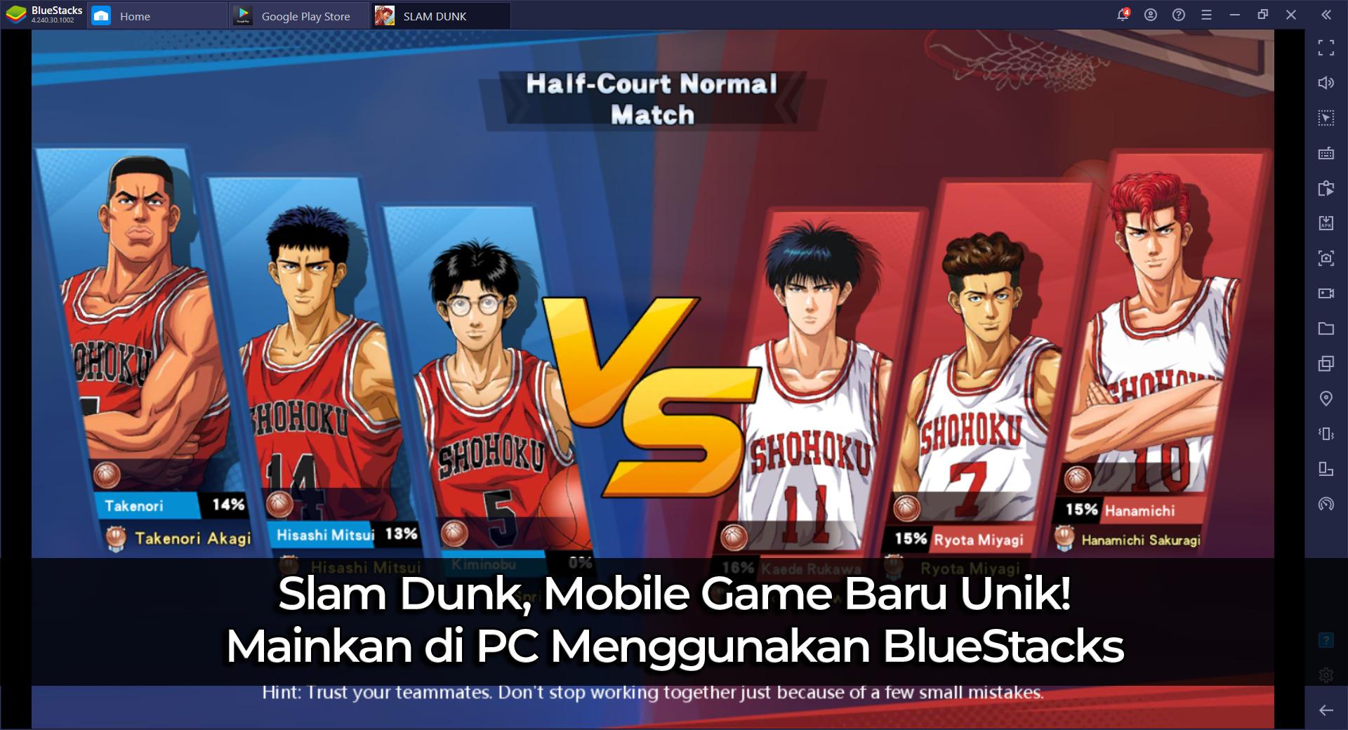 Slam Dunk, Mobile Game Baru Unik! Mainkan di PC Menggunakan BlueStacks
