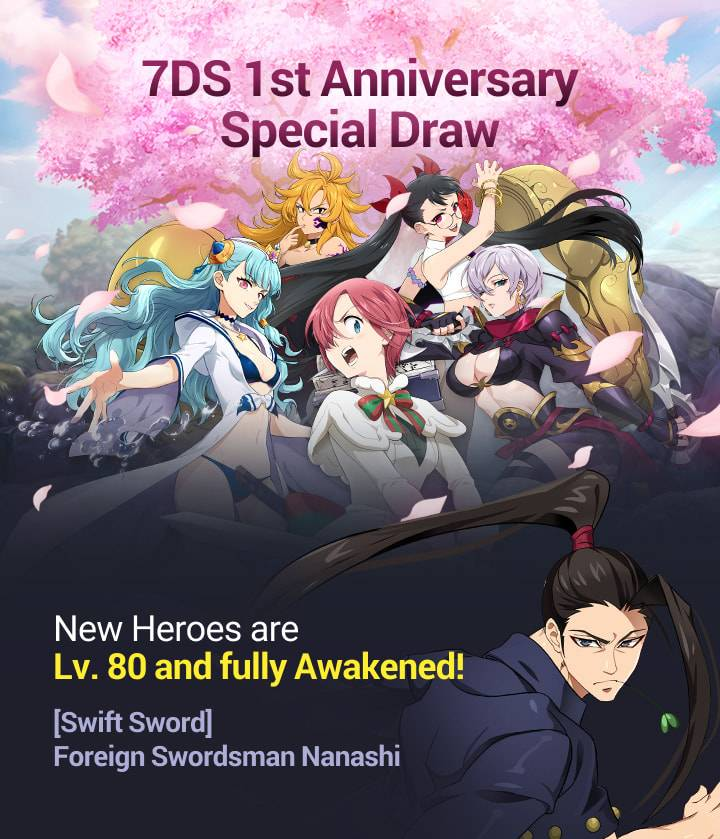 The Seven Deadly Sins: Grand Cross to Release 6 New Heroes in Latest Update