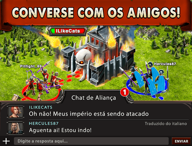 Jogue Game of War on pc 11
