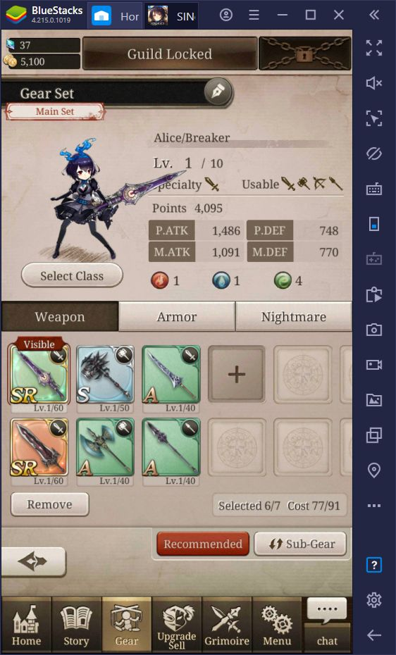 A Guide on the Class and Skills Systems in SINoALICE