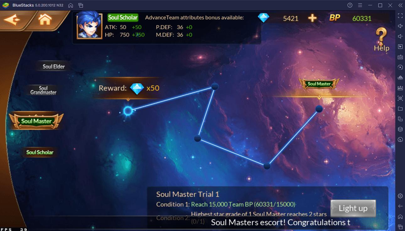 Comment Améliorer Votre Équipe de Maîtres d' me dans Soul Land Reloaded