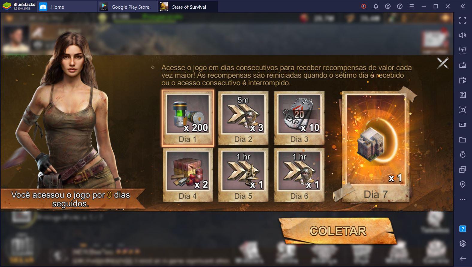 Como jogar State of Survival diretamente pelo seu PC usando o BlueStacks?