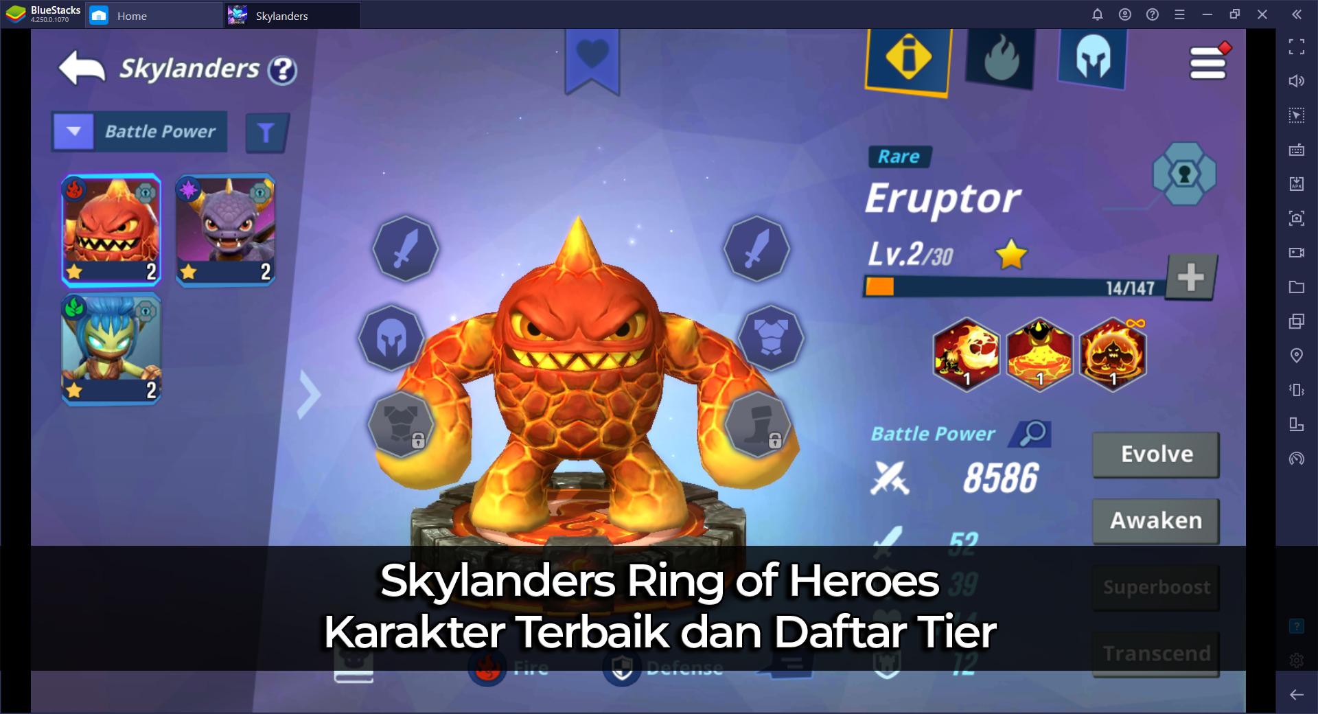 Skylanders Ring of Heroes Karakter Terbaik dan Daftar Tier