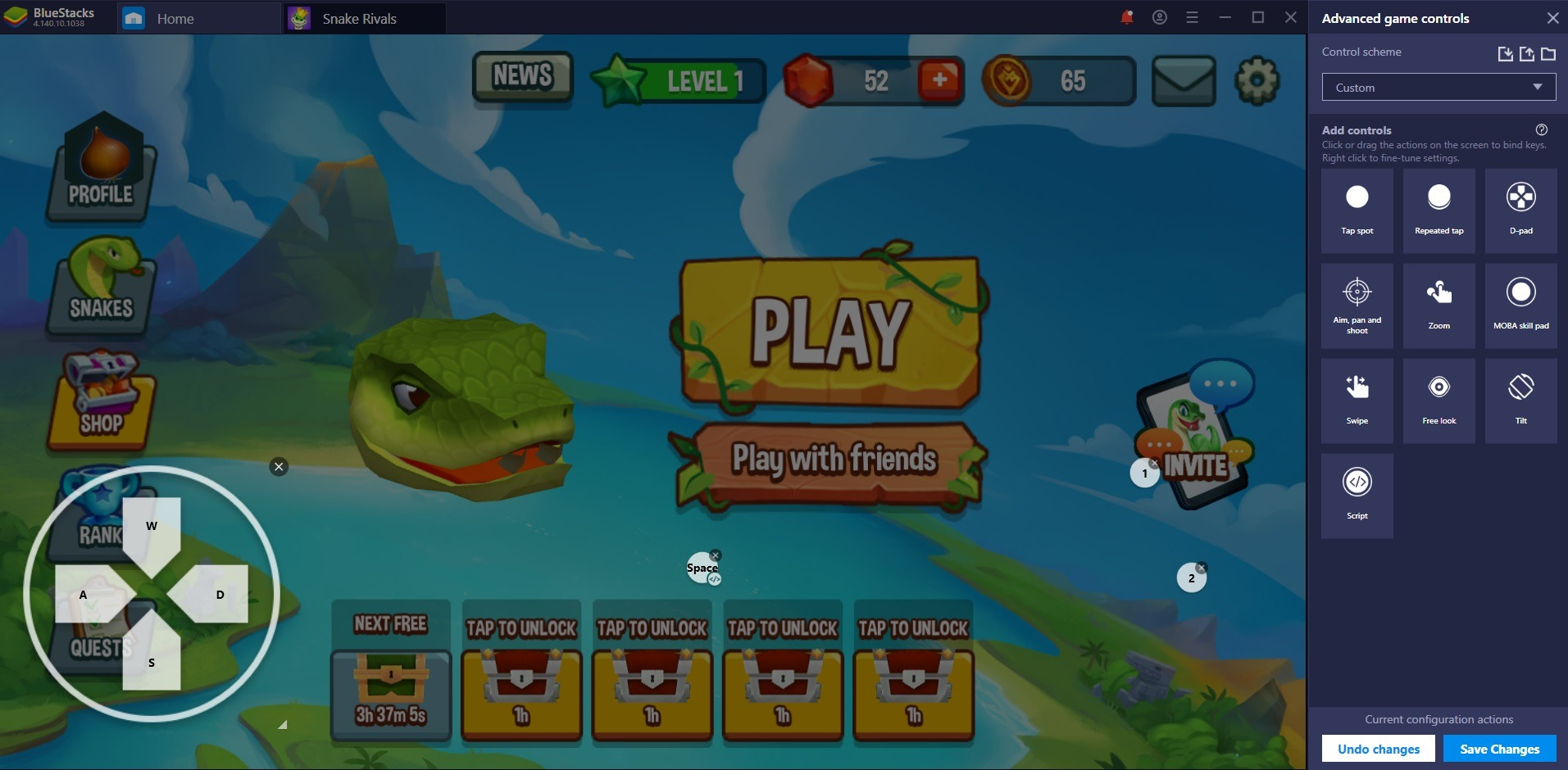 Play Snake Rivals on PC on PC with BlueStacks