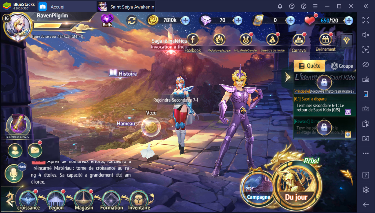 Saint Seiya Awakening sur PC : une compilation des guides, des astuces et des listes des meilleurs personnages du jeu