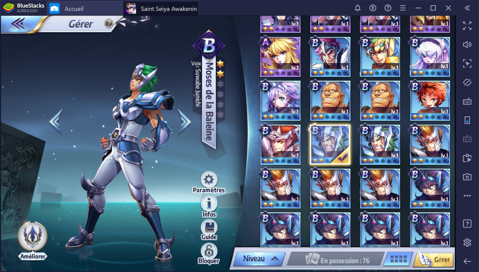 Saint Seiya Awakening sur PC Guide sur le PvP