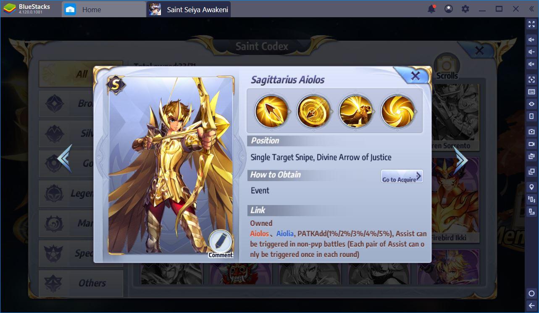 Saint Seiya Awakening: توجه لأفضل القديسين في اللعبة