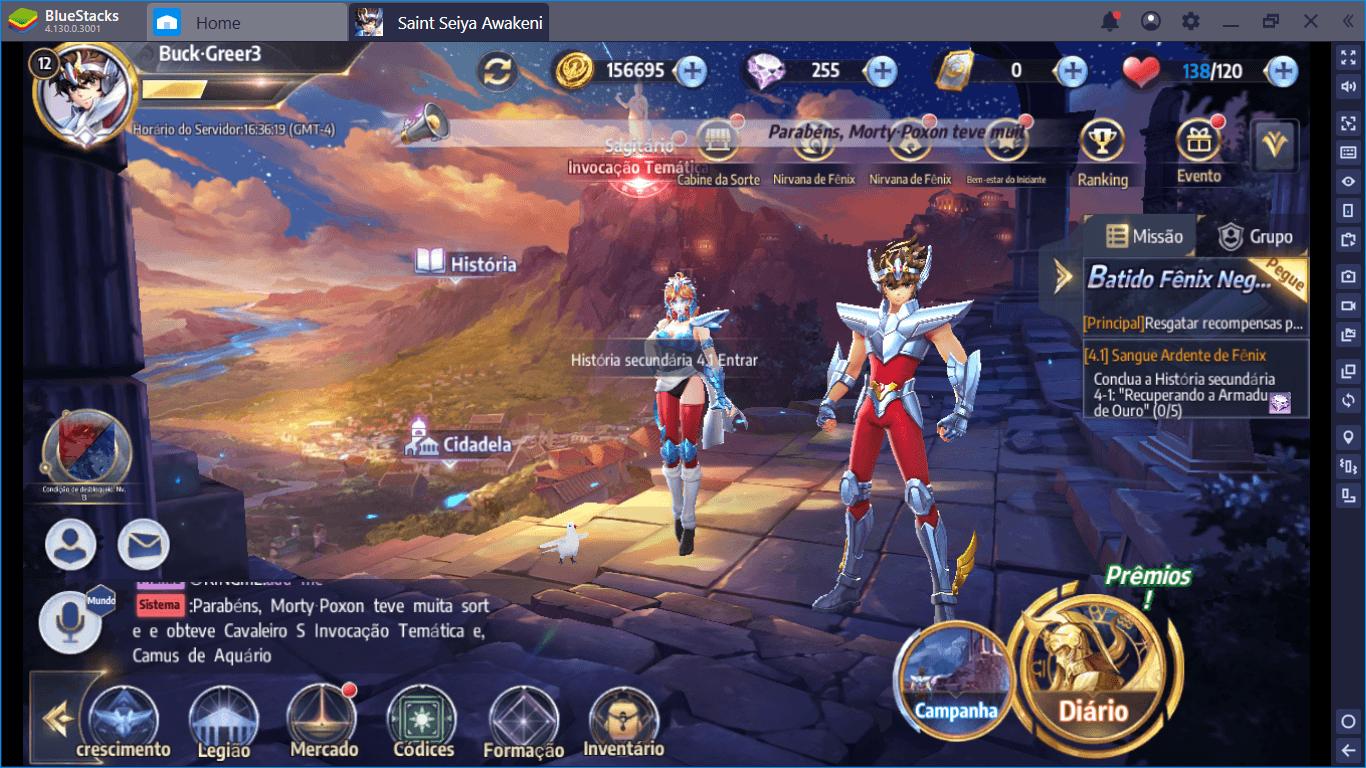 Saint Seiya Awakening: Knights of the Zodiac Como Jogar no BlueStacks