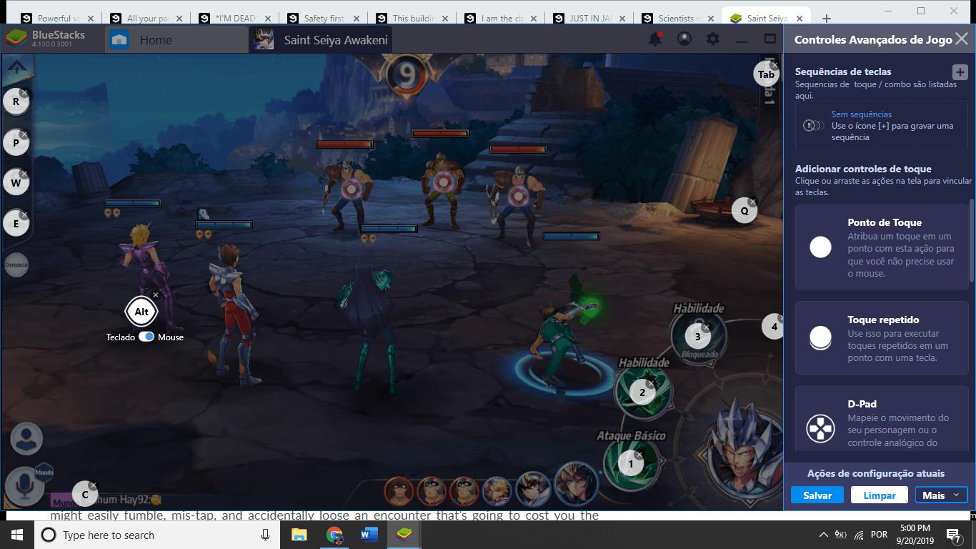 Saint Seiya Awakening Como Jogar no BlueStacks