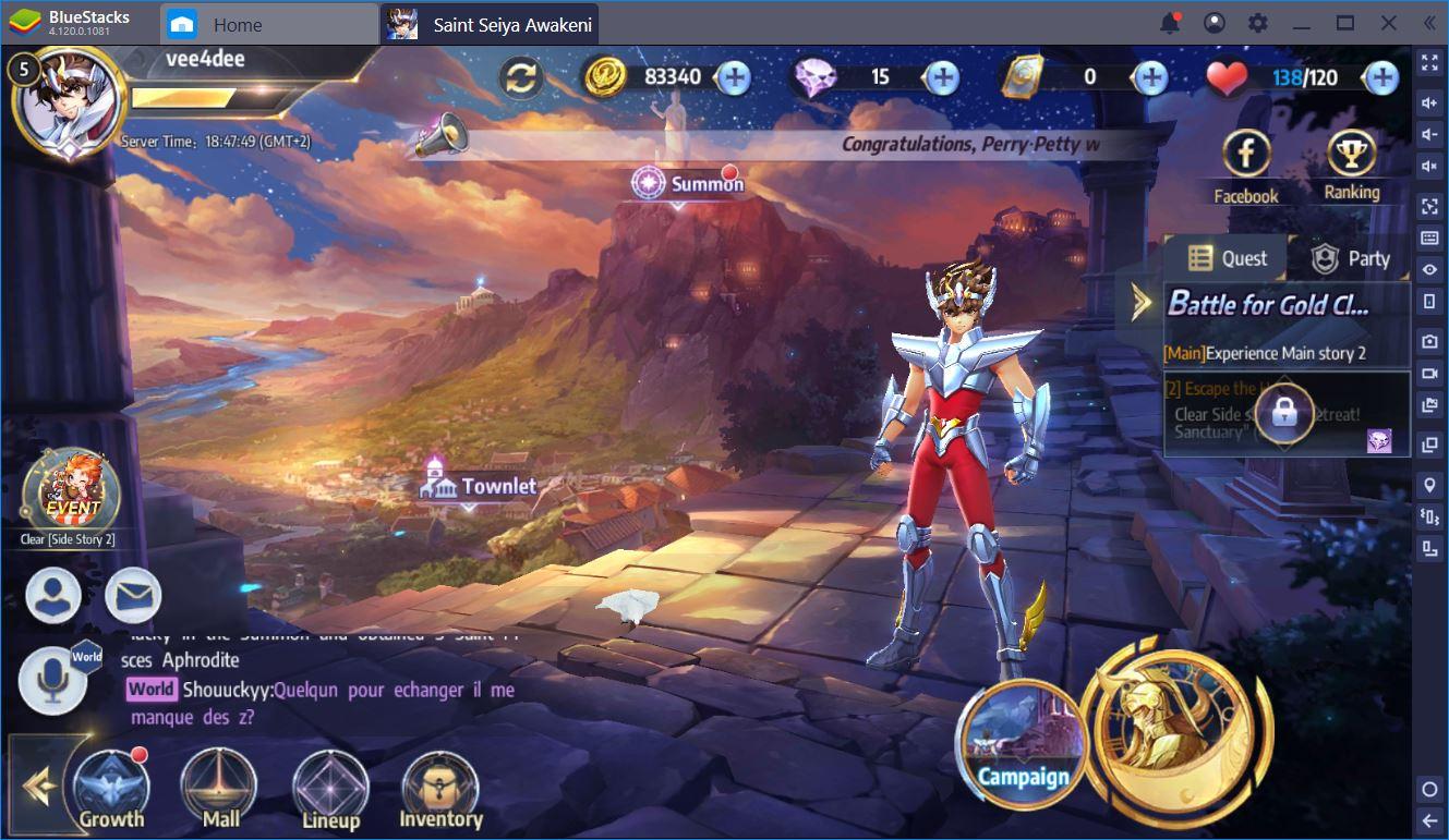 Saint Seiya Awakening : كيف تتحول إلى أفضل الشخصيات