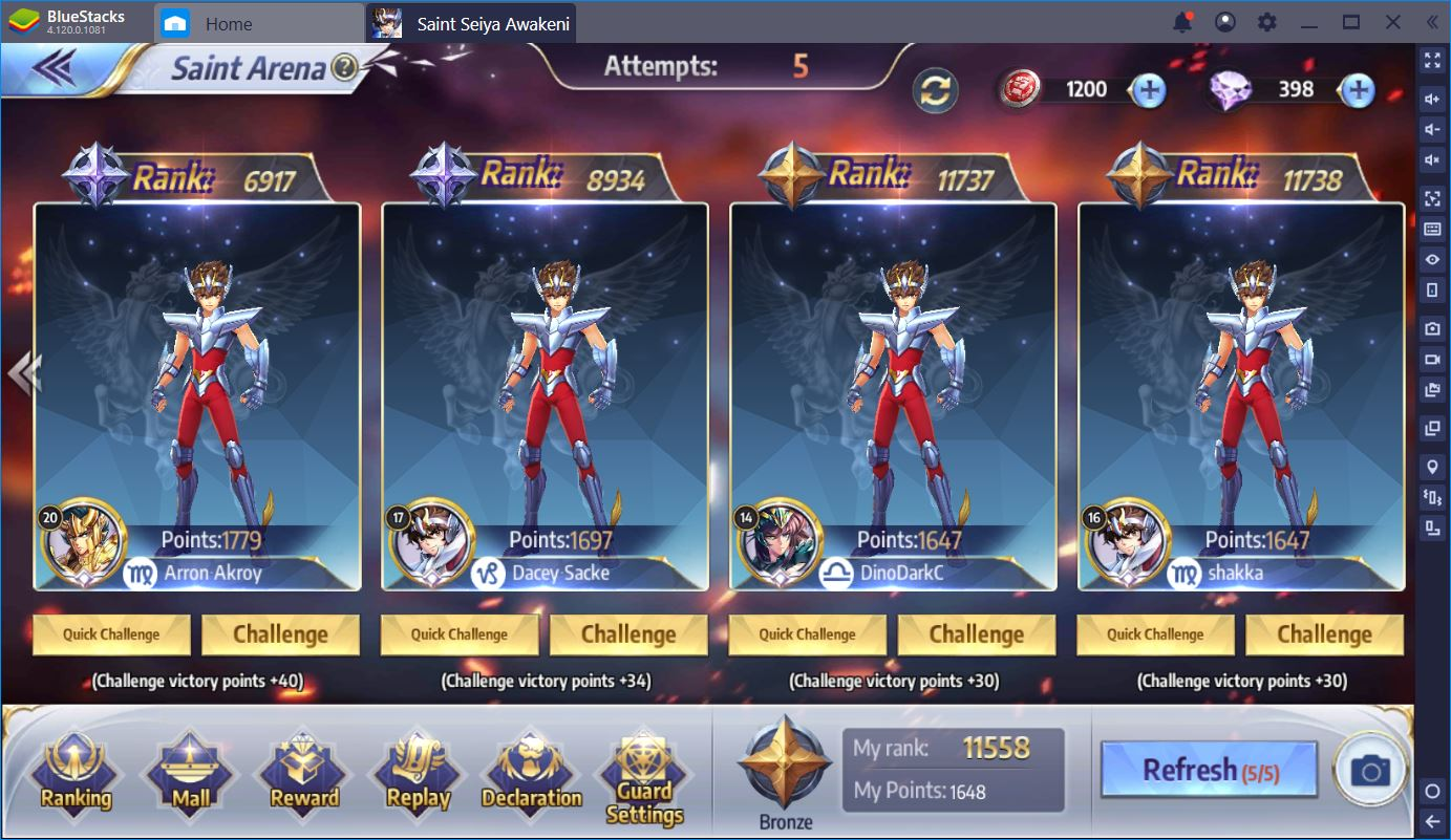 Saint Seiya Awakening: Best Saints for PvP