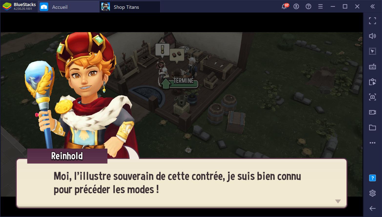 Shop Titans sur PC – Comment gagner plus d'argent rapidement