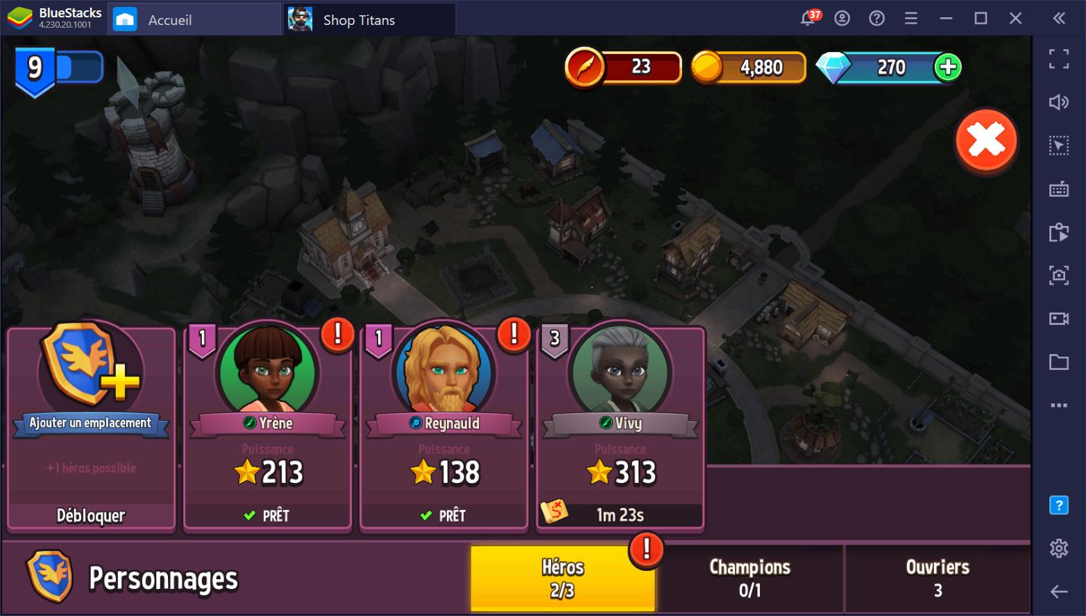 Shop Titans sur PC: Le Guide Complet sur les Personnages