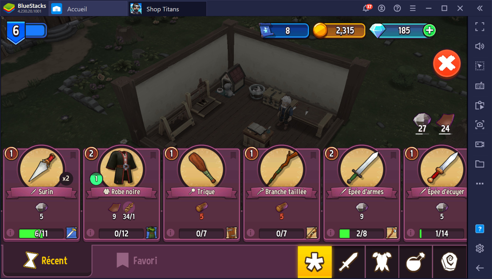 Shop Titans sur PC – comment utiliser vos ressources intelligemment