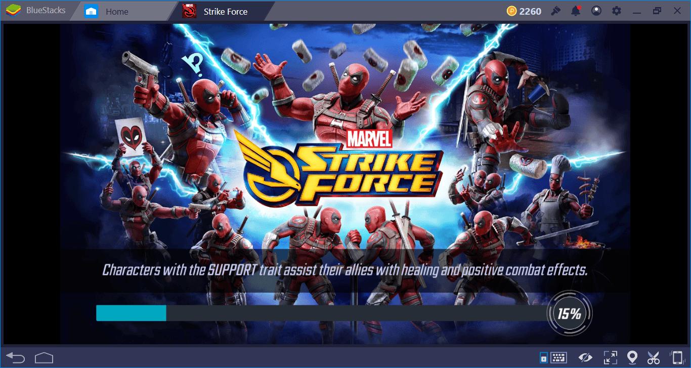 marvel strike force bluestacks