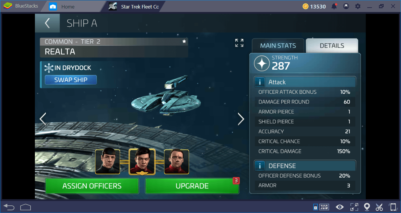 Star Trek Fleet Command على جهاز الكمبيوتر: دليل نظام المعركة