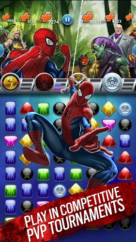 Play Marvel Puzzle Quest on PC 10