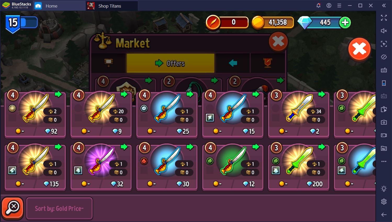 لعبة Shop Titans:  كيفية كسب المزيد من المال بسرعة