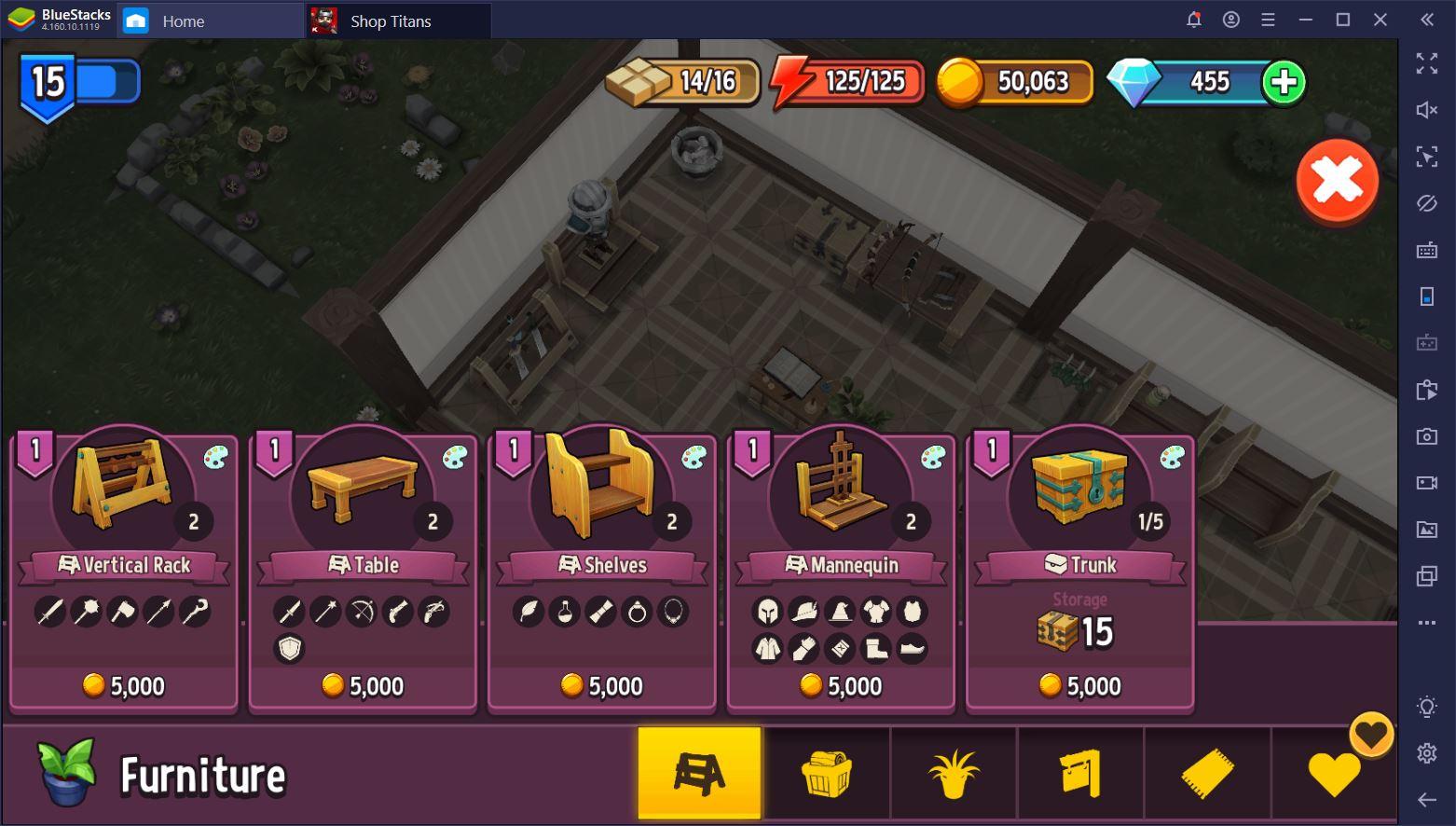 لعبة Shop Titans: كيف تنفق مواردك بحكمة