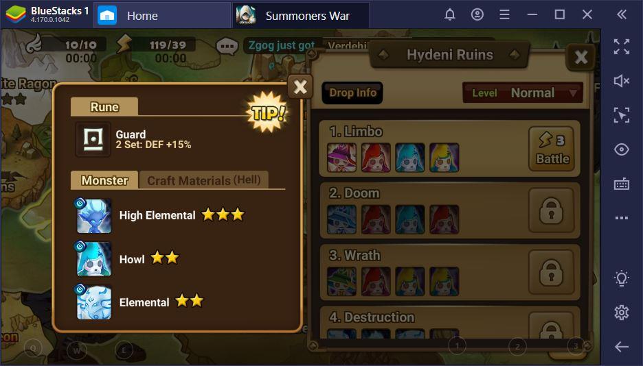 Summoners War – Gestion des runes pour le endgame