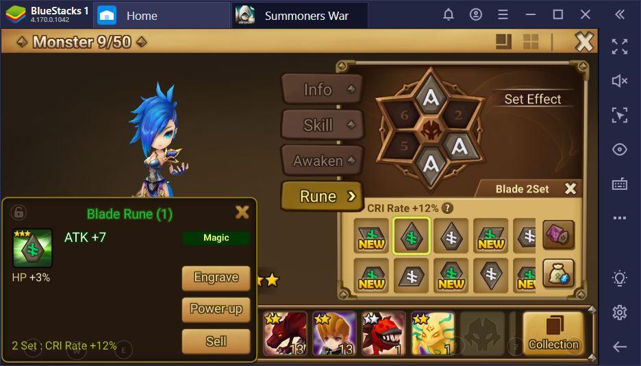 Summoners War – Guide pour débutants sur les runes