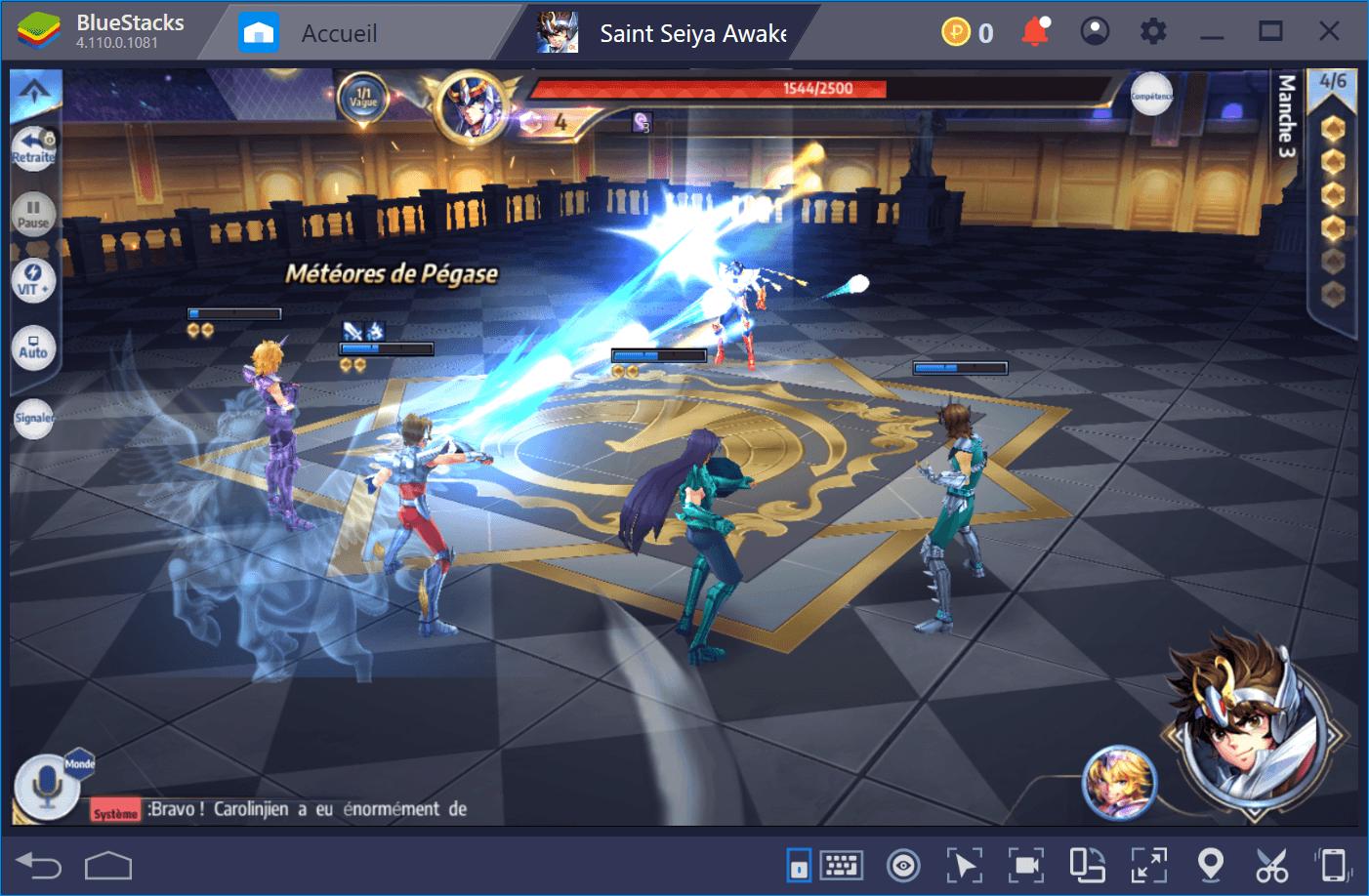 Saint Seiya Awakening : Faire du Reroll pour débloquer les meilleurs personnages