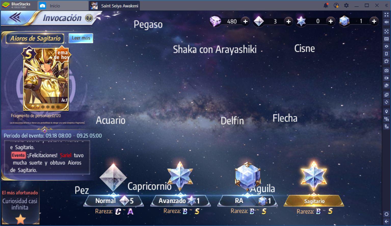 Cómo Rerollear por los Mejores Personajes en Saint Seiya Awakening