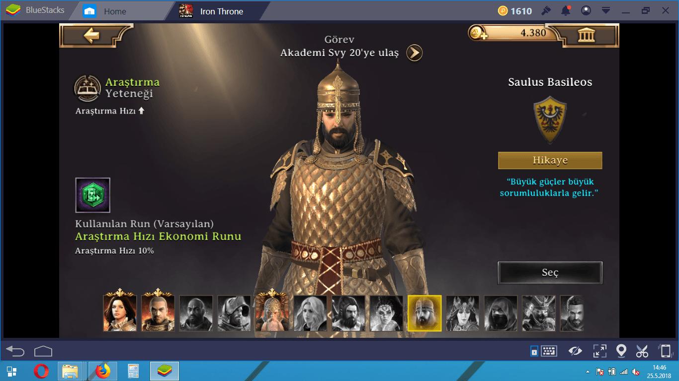 Iron Throne Araştırma ve Ekipman Rehberi