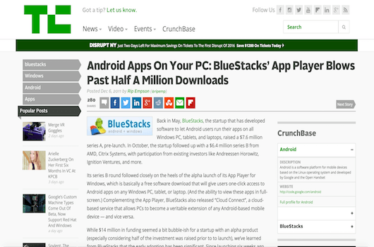 Android Apps On Your PC: BlueStacks' App Player Blows Past Half A Million Downloads 16