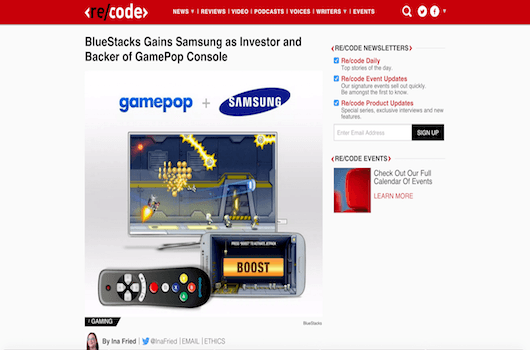 BlueStacks Gains Samsung as Investor and Backer of GamePop Console 8