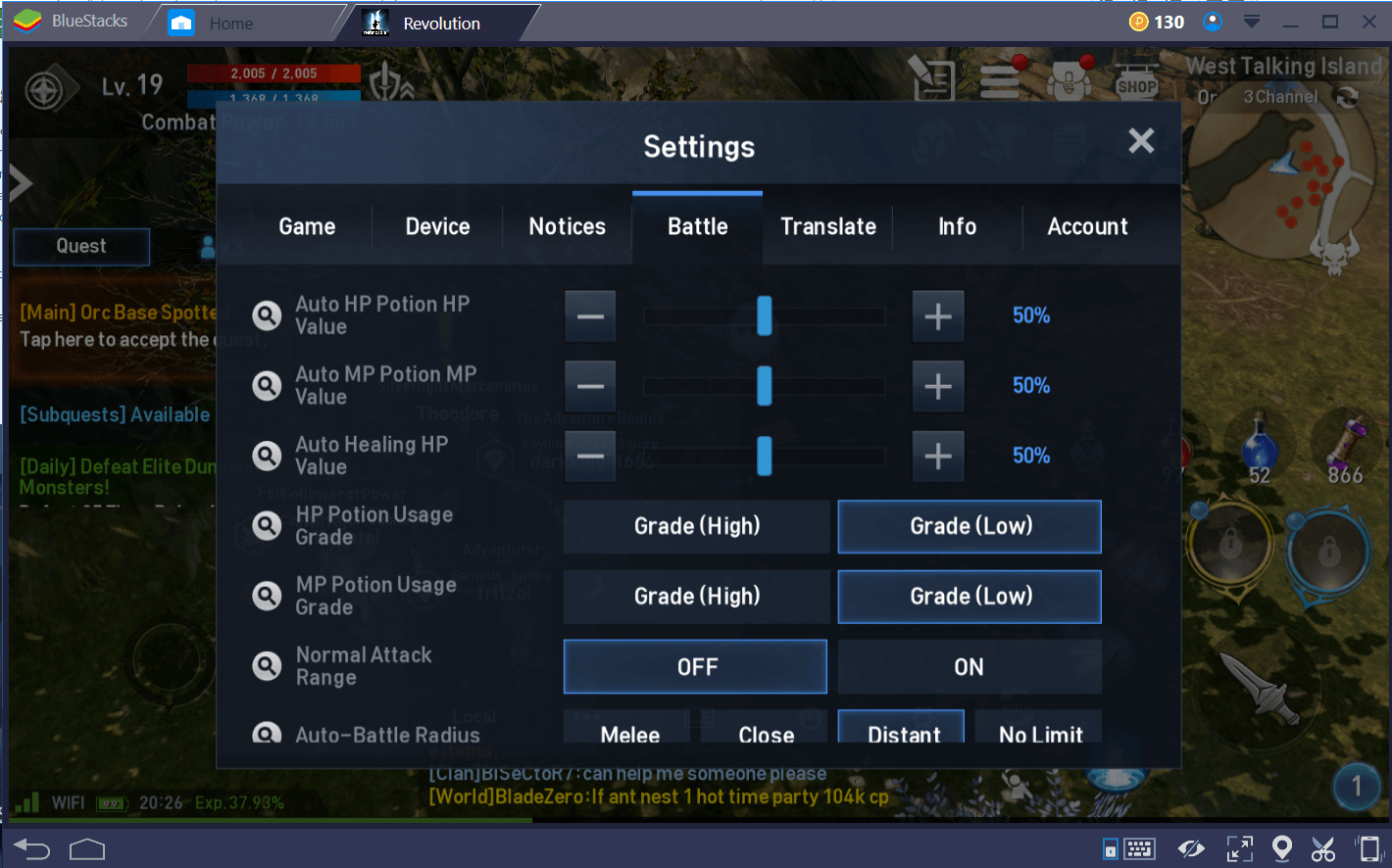 Lineage 2 Setting Tr