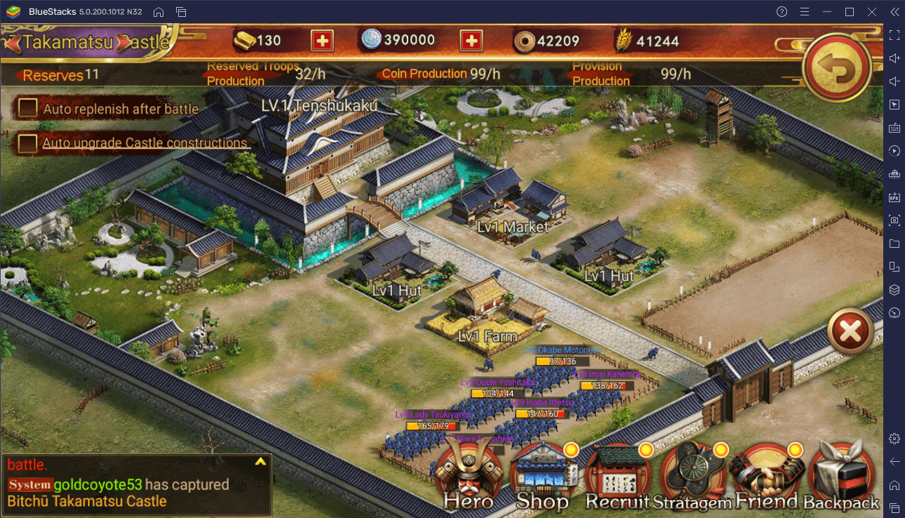 A Resource Guide for Developing Your Castles in Sengoku Fubu