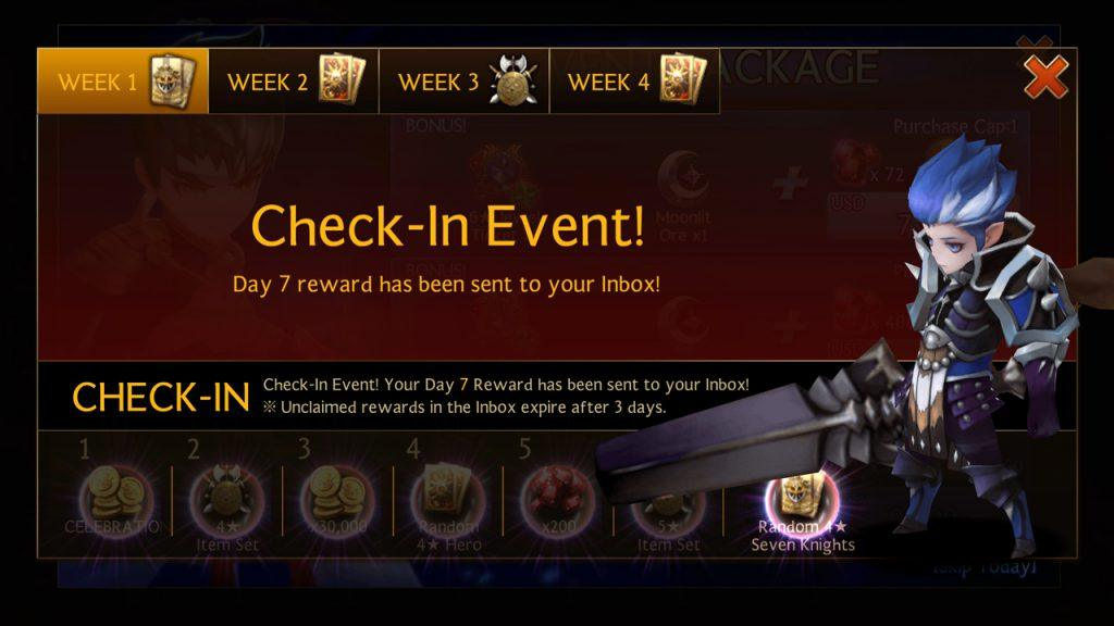 Seven Knights - Checkin to Earn Free Seven Knights Hero