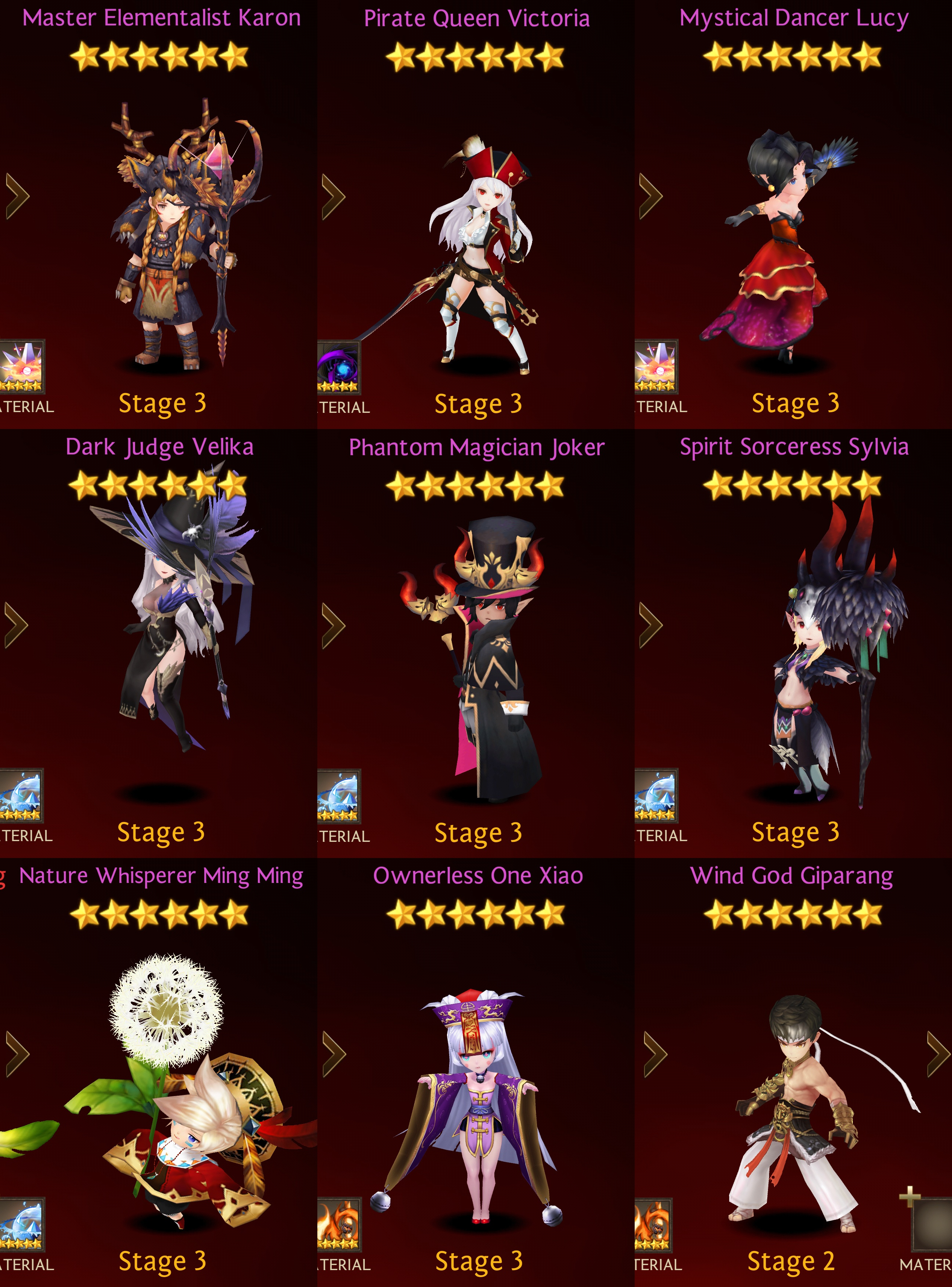 Ultimate Seven Knights Faction Heroes List Adventurers