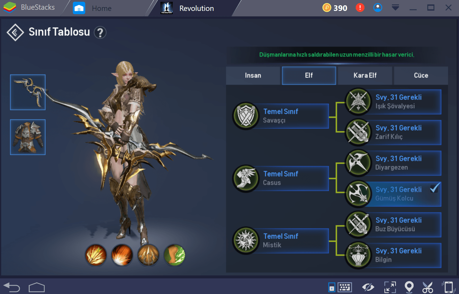 Lineage 2 Silver Ranger Tr