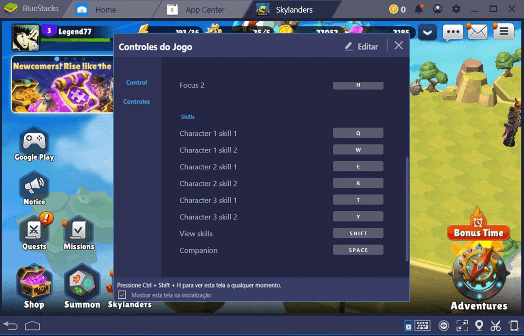 Como configurar BlueStacks para jogar Skylanders.