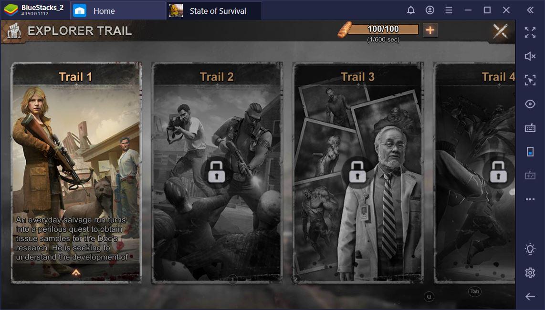 State of Survival على جهاز الكمبيوتر: بناء حامية لتحمل غيبوبة نهاية العالم