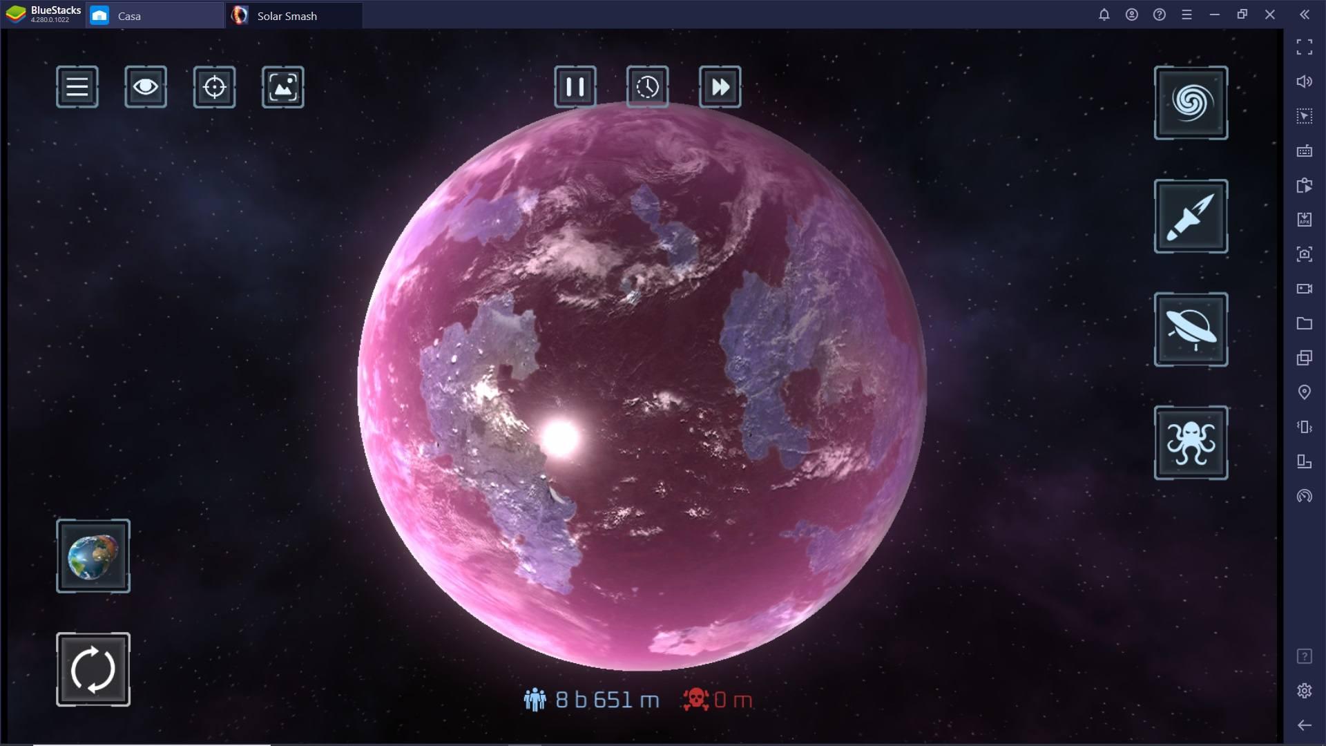 Solar Smash – Il Simulatore di Distruzione di Pianeti è disponibile su PC con Bluestacks!