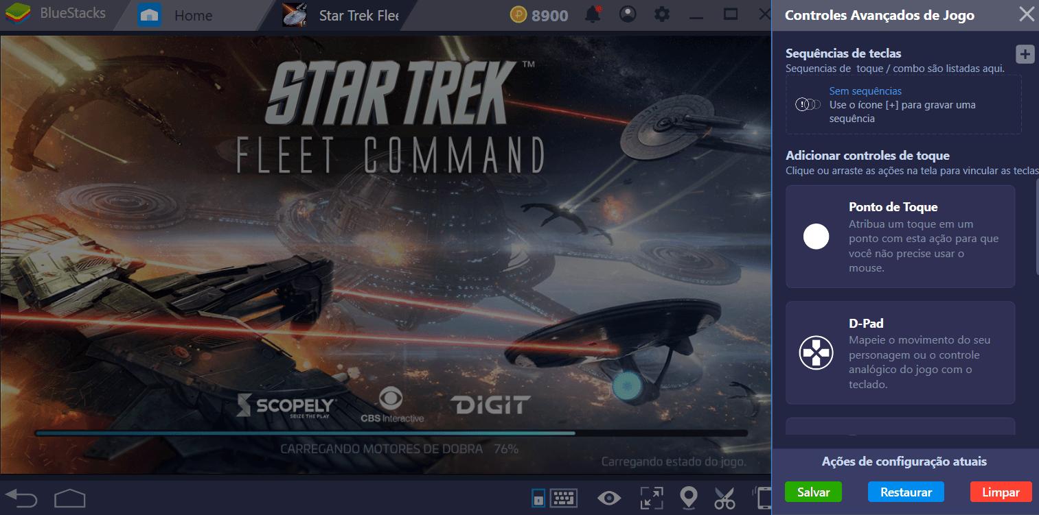 Guia de Instalação e Configuração de BlueStacks para Star Trek Fleet Command